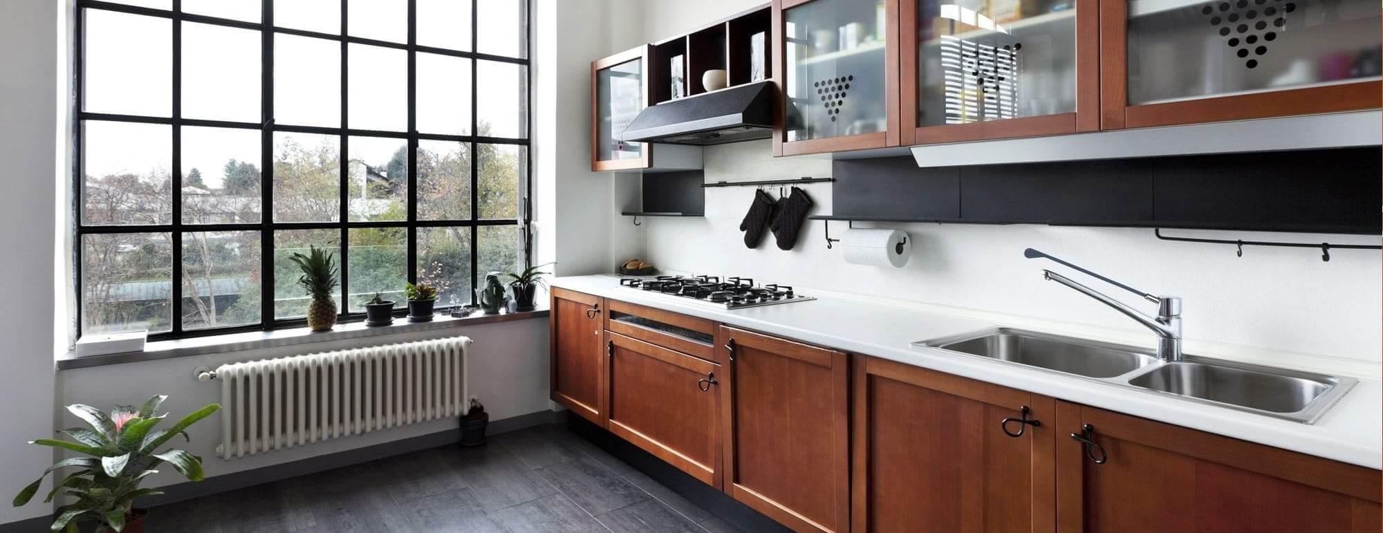 Sanierte und moderne Küchenzeile